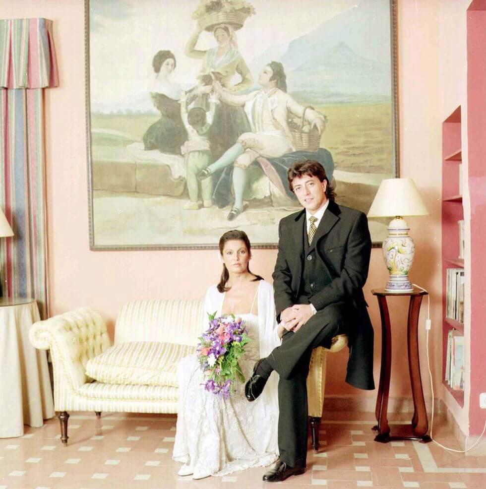Carmina Ordóñez con Ernerto Neira en su boda