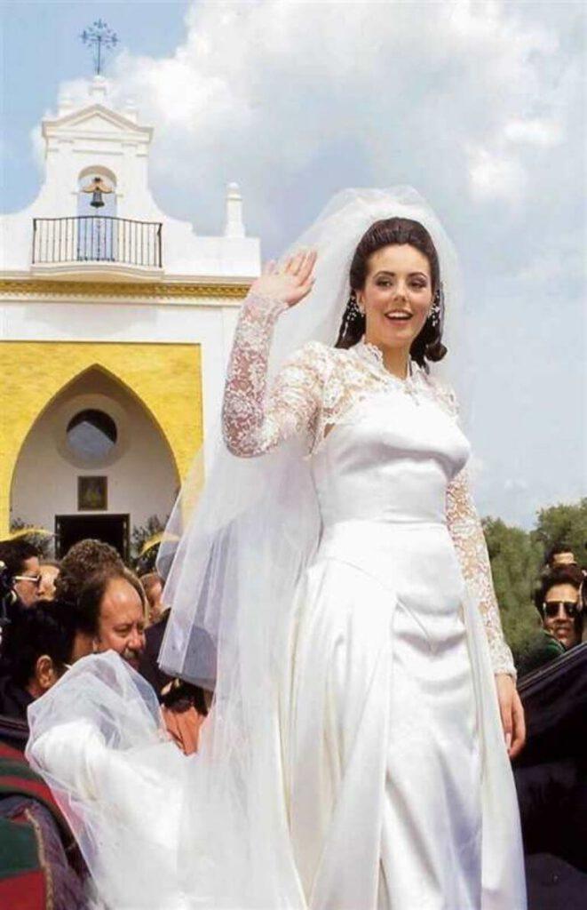 Rocío Carrasco en su boda