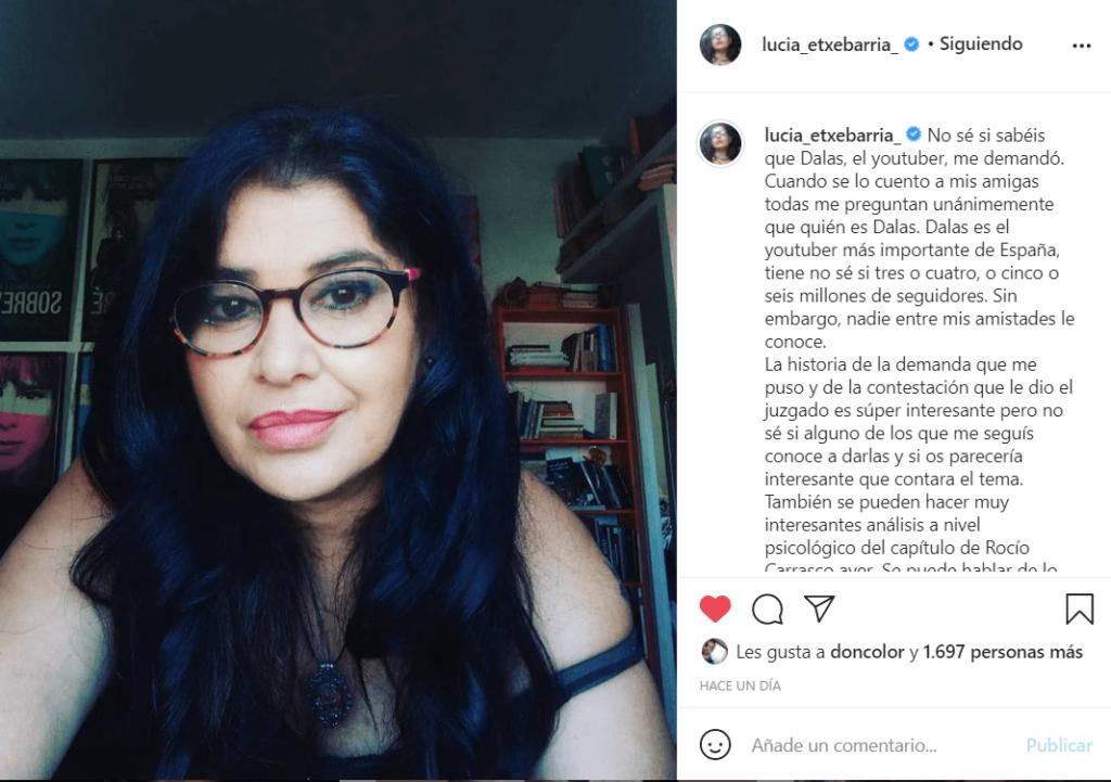 Lucia Etxebarria demanda instagram