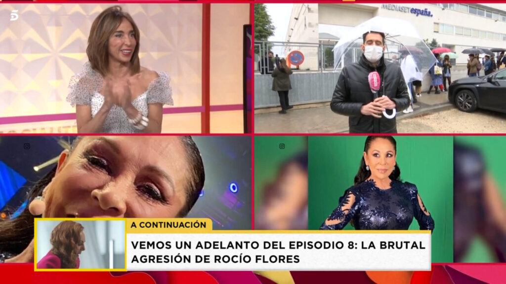 Maria Patiño comentando la foto prohibida de Isabel Pantoja