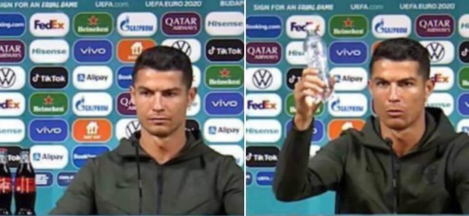 Cristiano Ronaldo sabe que la Coca Cola es mala